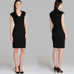 Ted Baker Black Dixy Crossover Dress Fitted Size 0